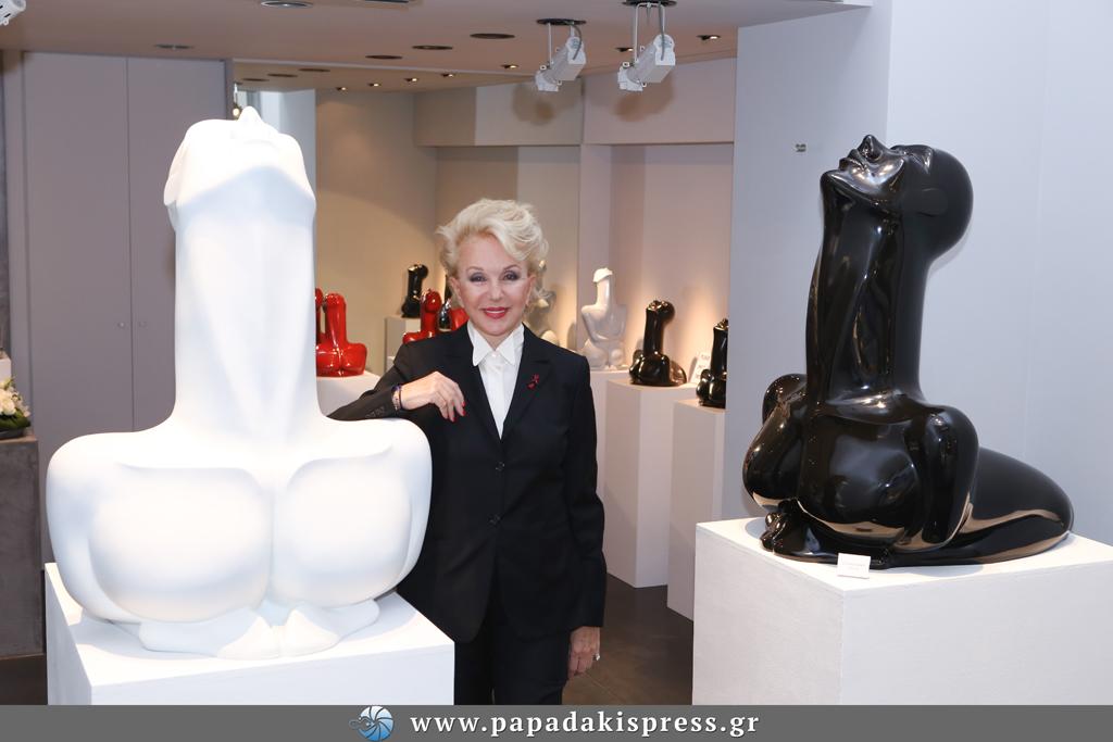 Della Rounick Sculptures, Gallery Opening, Kolonaki, Athens, Greece